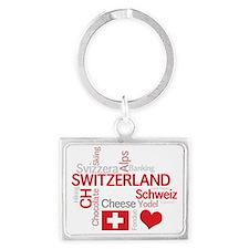 Switzerland2forDark Landscape Keychain