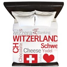 Switzerland2forDark King Duvet