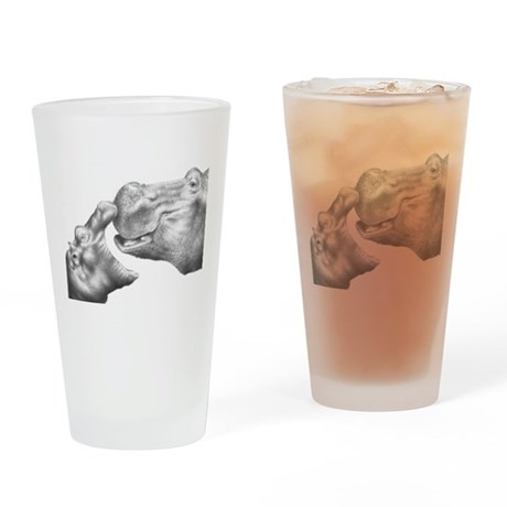 Hippo and Baby Drinking Glass