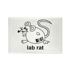 Lab Rat Rectangle Magnet