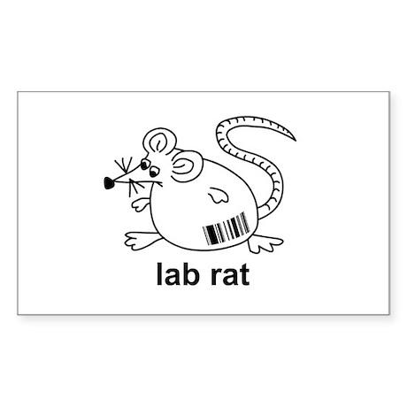 Lab Rat Rectangle Sticker