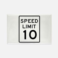 Speed Limit 10 - USA Rectangle Magnet