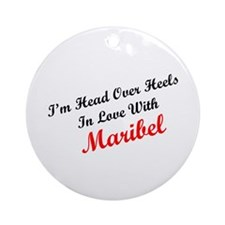 In Love with Maribel Ornament (Round)