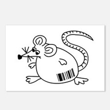 Barcode Rat Postcards (Package of 8)