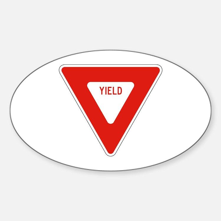 Yield - USA Oval Decal