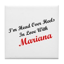 In Love with Mariana Tile Coaster