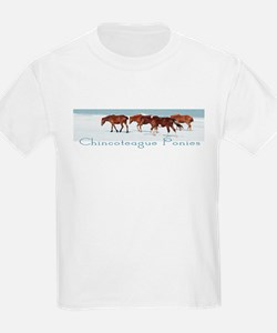 Chincoteague Ponies Kids T-Shirt