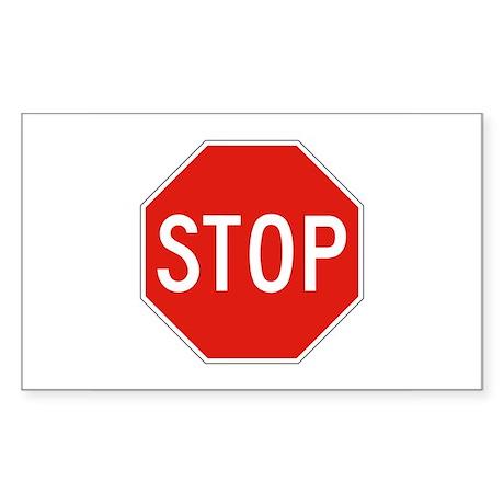 Stop - USA Rectangle Sticker