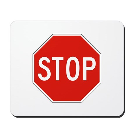 Stop - USA Mousepad