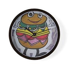 cutttteeee burger Wall Clock