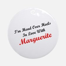 In Love with Marguerite Ornament (Round)