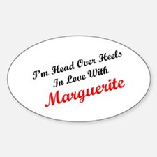 In Love with Marguerite Oval Decal
