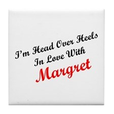 In Love with Margret Tile Coaster