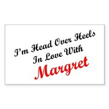 In Love with Margret Rectangle Decal