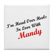 In Love with Mandy Tile Coaster