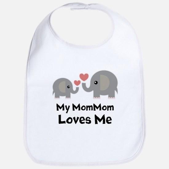 My MomMom Loves Me Baby Bib