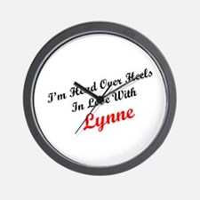 In Love with Lynne Wall Clock