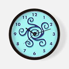 Spiral Design Sky Blue Wall Clock