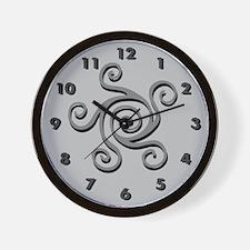 Spiral Design Grey Wall Clock