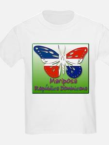 Mariposa Republica Dominicana Kids T-Shirt