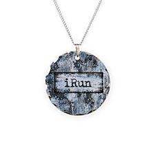Blue I Run Necklace