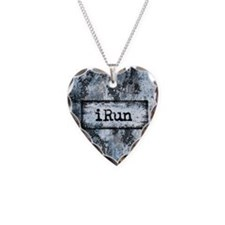 Blue I Run Necklace