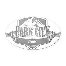 Park City Utah Ski Resort 5 Oval Car Magnet