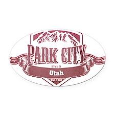 Park City Utah Ski Resort 2 Oval Car Magnet