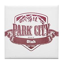 Park City Utah Ski Resort 2 Tile Coaster