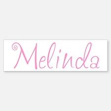 Melinda Bumper Car Car Sticker