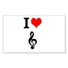 I heart music Decal