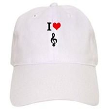 I heart music Baseball Cap