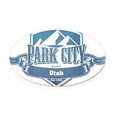 Park City Utah Ski Resort 1 Oval Car Magnet