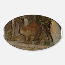 beaver Oval Decal