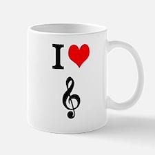 I heart music Mug