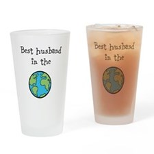 Best husband in the world Drinking Glass
