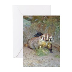 badger 2 Greeting Cards (Pk of 10)