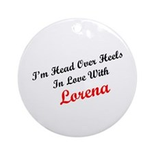 In Love with Lorena Ornament (Round)
