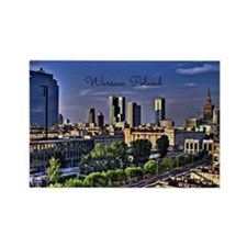 Warsaw, Poland cityscape Magnets