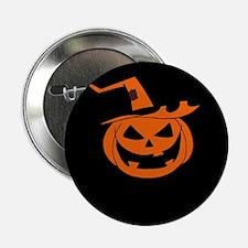 """Orange pumpkin 2.25"""" Button"""