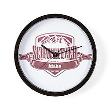 Schweitzer Idaho Ski Resort 2 Wall Clock