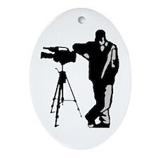 Cameraman Logo Oval Ornament