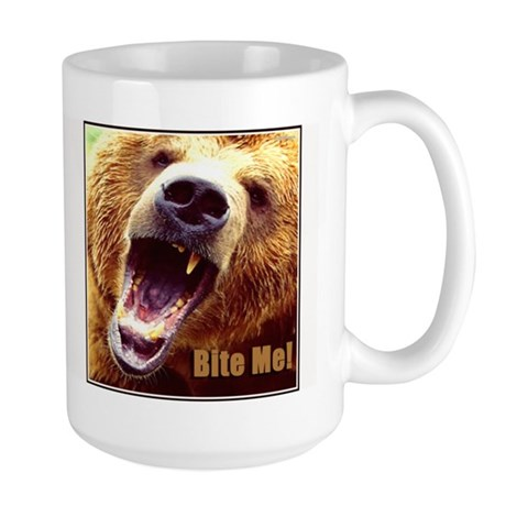 Bite Me Grizzly Large Mug