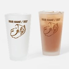 Custom Brown Monkey Face Drinking Glass