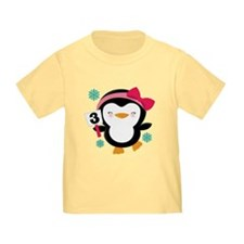 3rd Birthday Penguin T