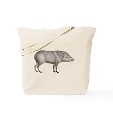 Peccary Pig - Javelina Tote Bag