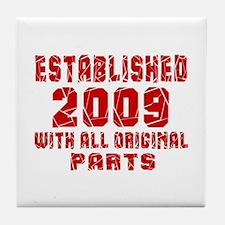Established 2009 With All Original Pa Tile Coaster