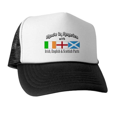 Irish-English-Scottish Trucker Hat