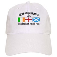 Irish-English-Scottish Baseball Cap