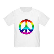 Rainbow Peace Sign T